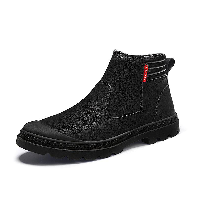 Trendy Men'S Non-Slip Wear-Resistant Tooling Casual Leather Boots