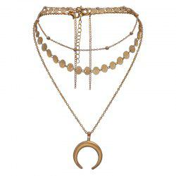 Multi Collarbone Chain Pendant Gold Necklace -