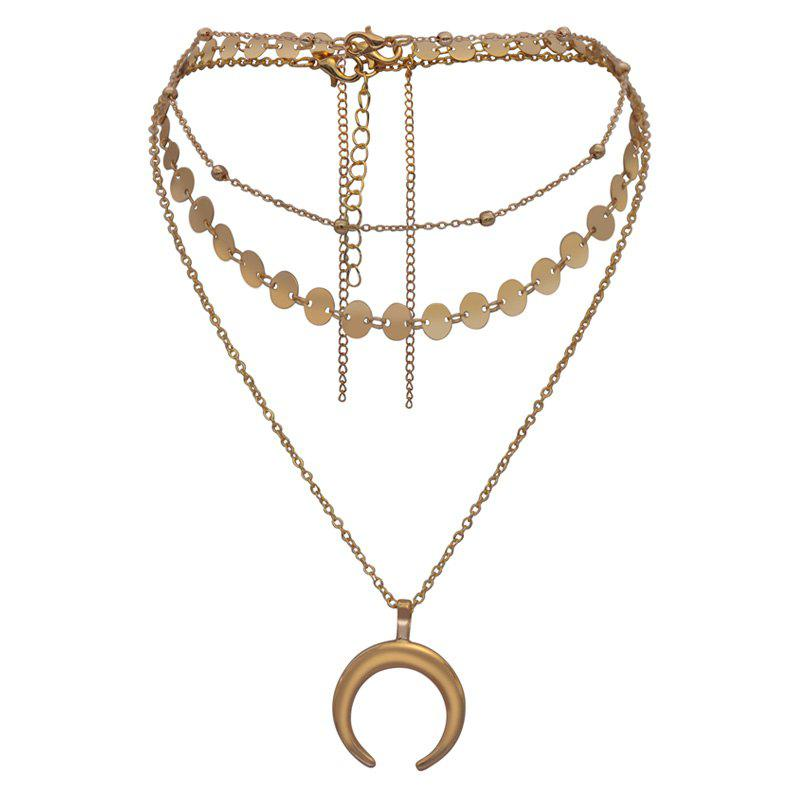 Shops Multi Collarbone Chain Pendant Gold Necklace