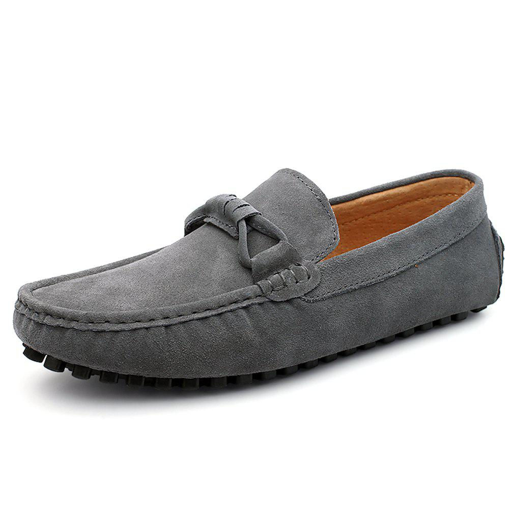 New Men'S Shoes with Flat Bottomed Leather