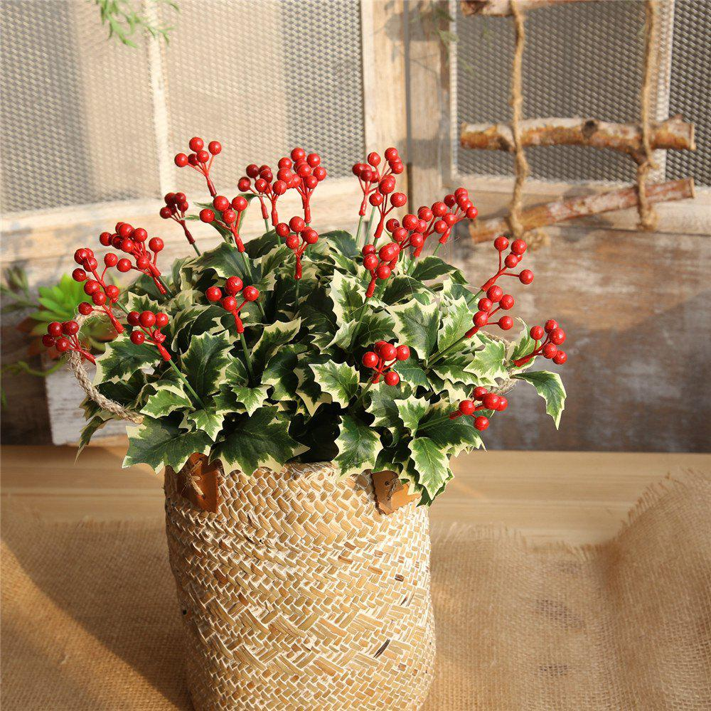 2018 Christmas Red Berries Artificial Flower Home Party Wedding