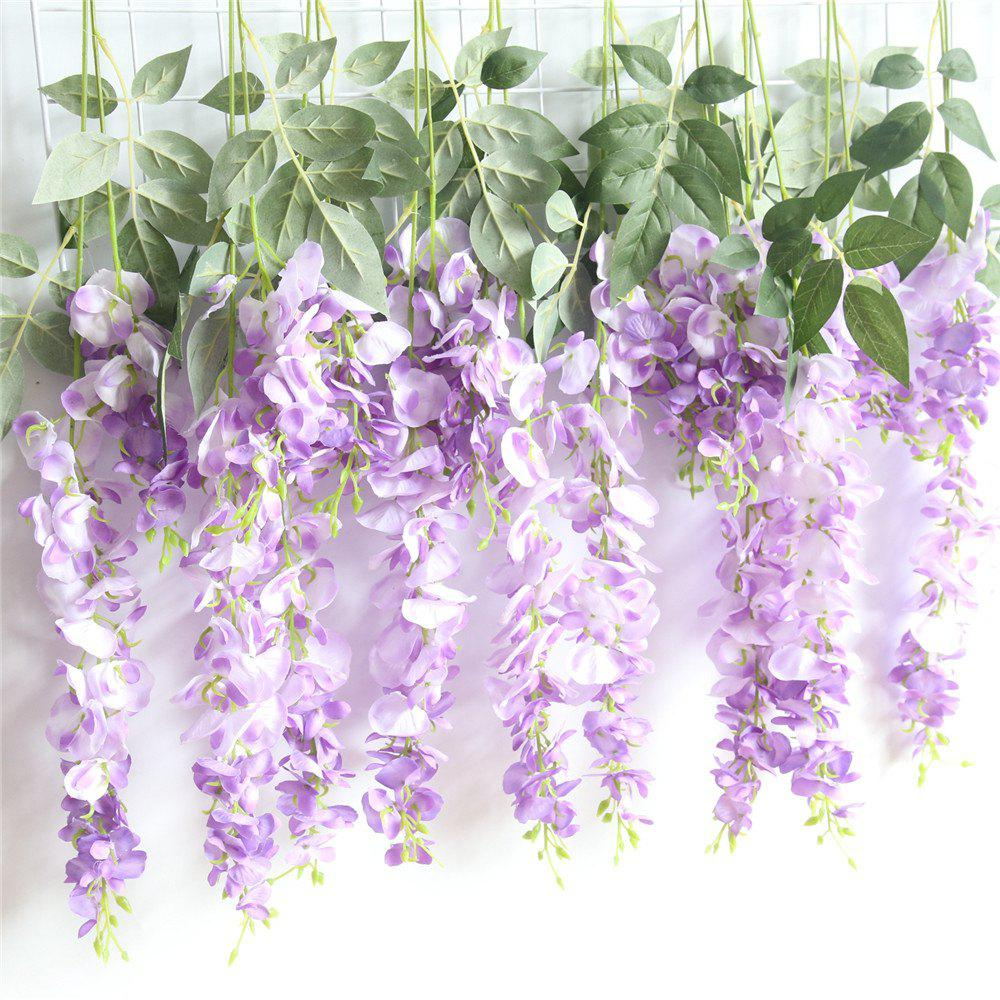 Outfits Wisteria Sinensis Artificial Flower Wedding Party Home Wall Hanging Decorations
