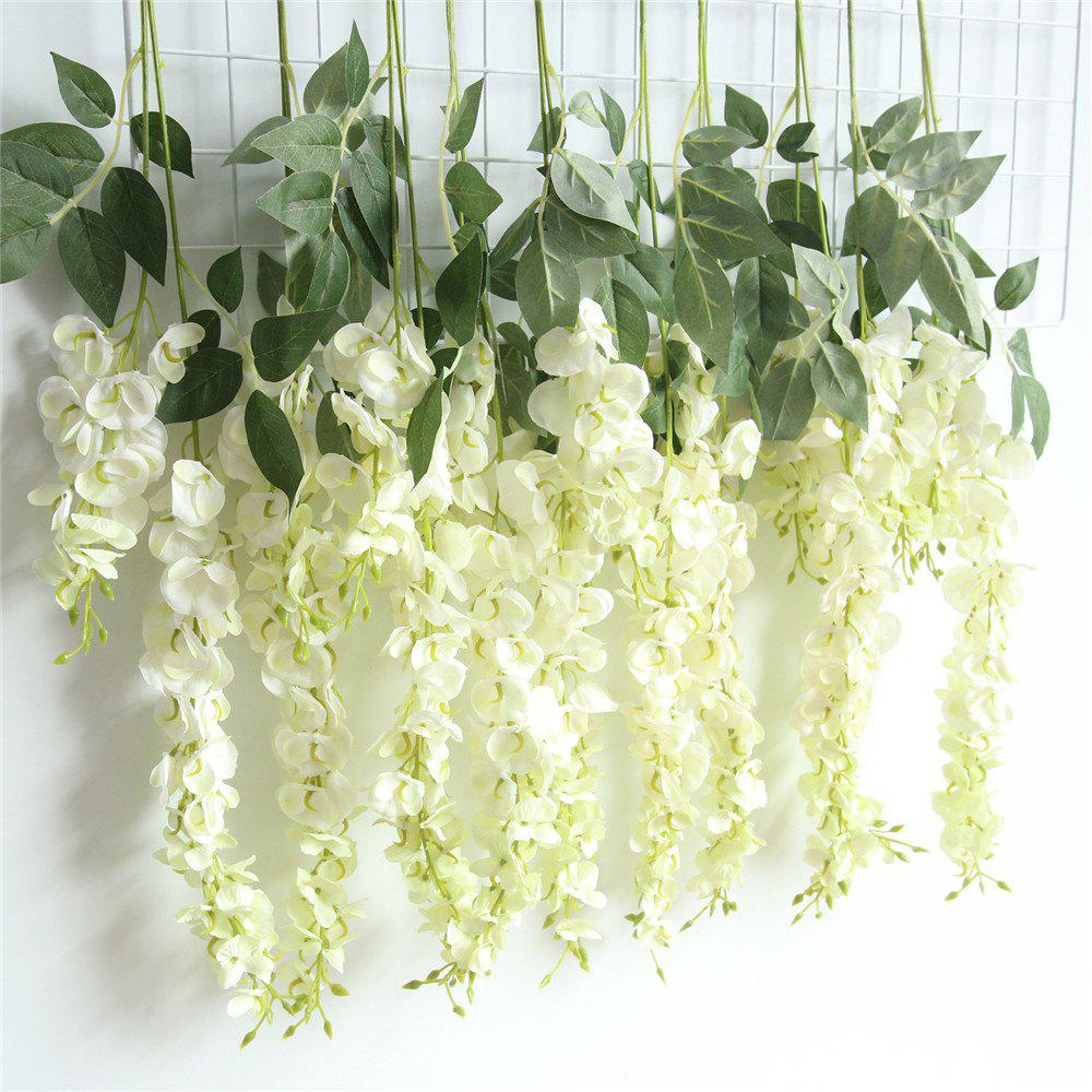 Online Wisteria Sinensis Artificial Flower Wedding Party Home Wall Hanging Decorations