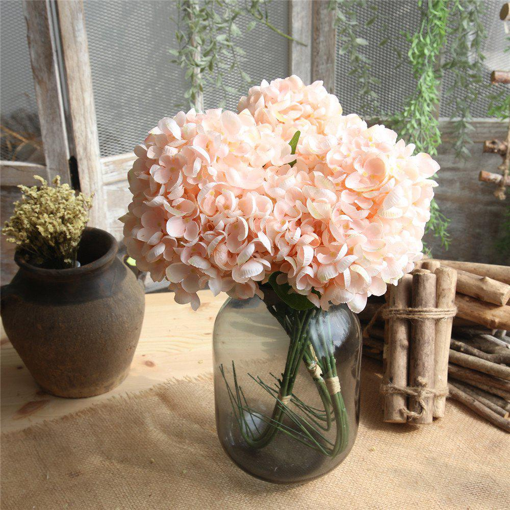 Champagne Hydrangeas Artificial Flower Bridal Bouquet Home Party