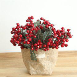 Vivid Little Red Berries Artificial Flower Christmas Decorations -