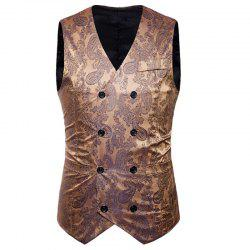 Men's Fashion Color Matching Casual Print Hollow Vest -