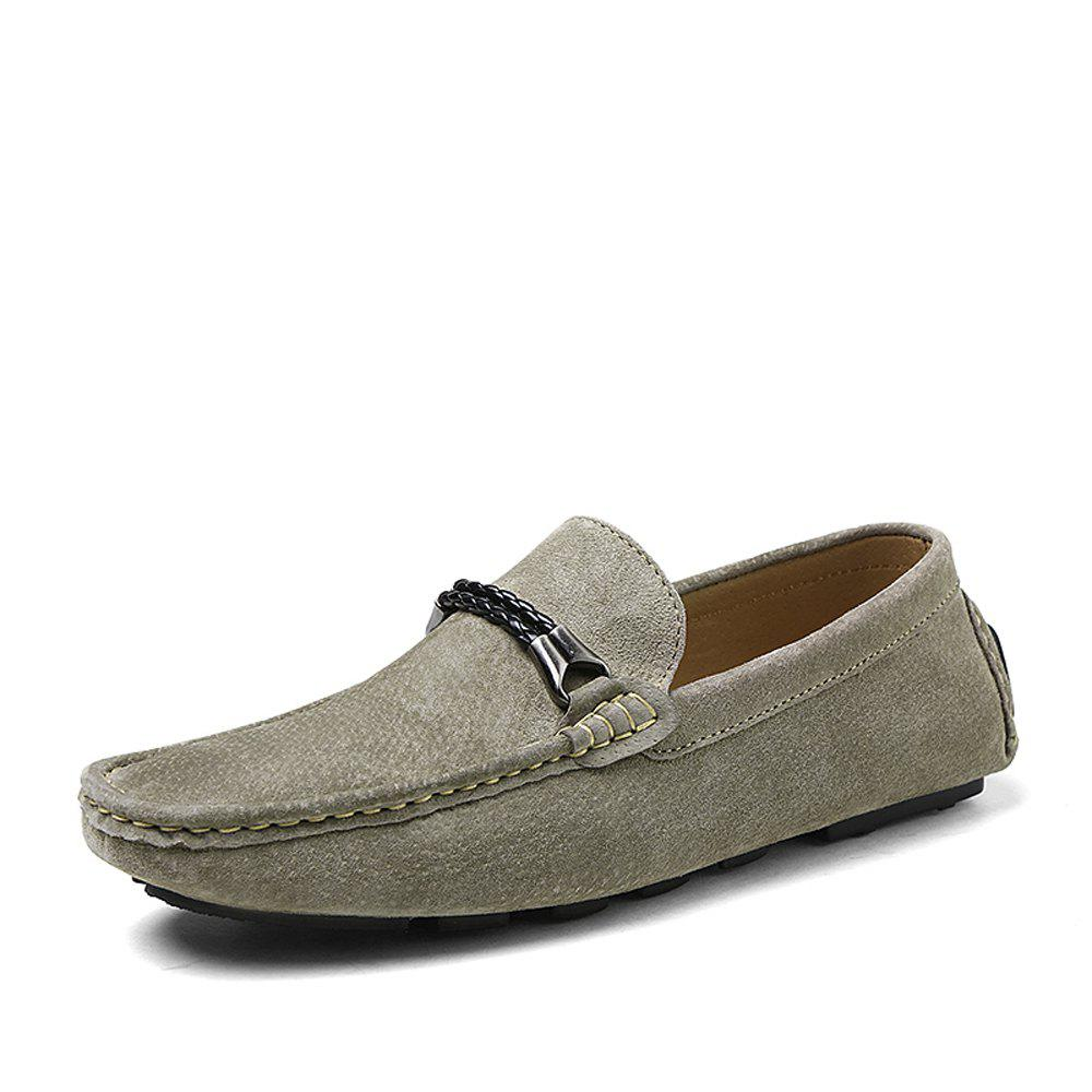 Trendy Pigskin Suede Men'S Driving Shoes