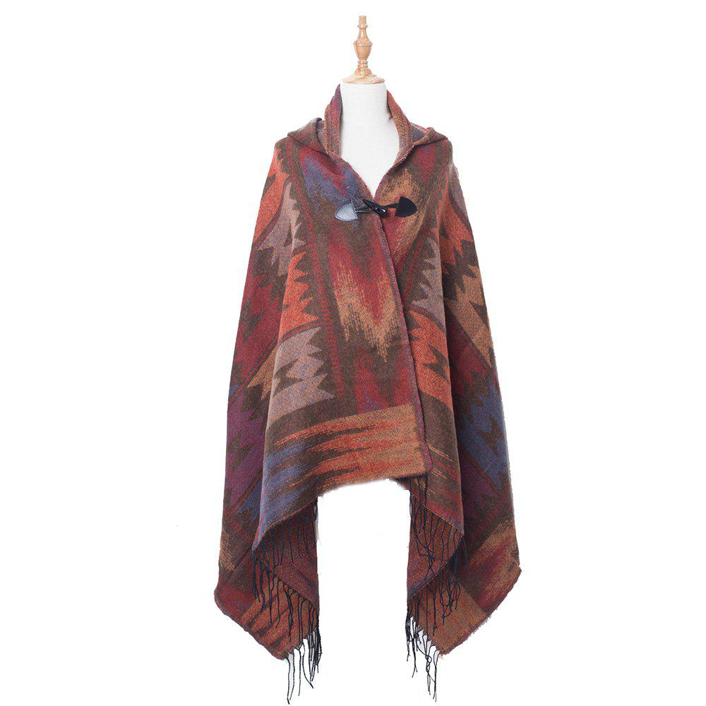 Shop Soft Comfortable Lady Hooded Cloak Worn