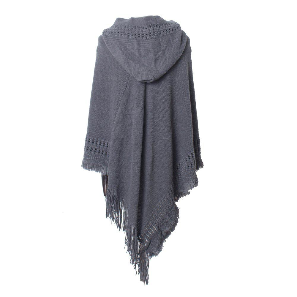 Outfits Lady's Soft and Solid Cap Knitted Cloak