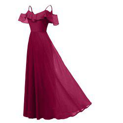 Women'S Chiffon Dress with Sling in Summer and Autumn -
