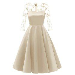 Gold Thread Embroidered A Dress -