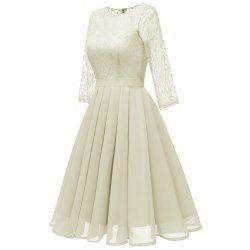 Seven Points Sleeves Lace Skirts -