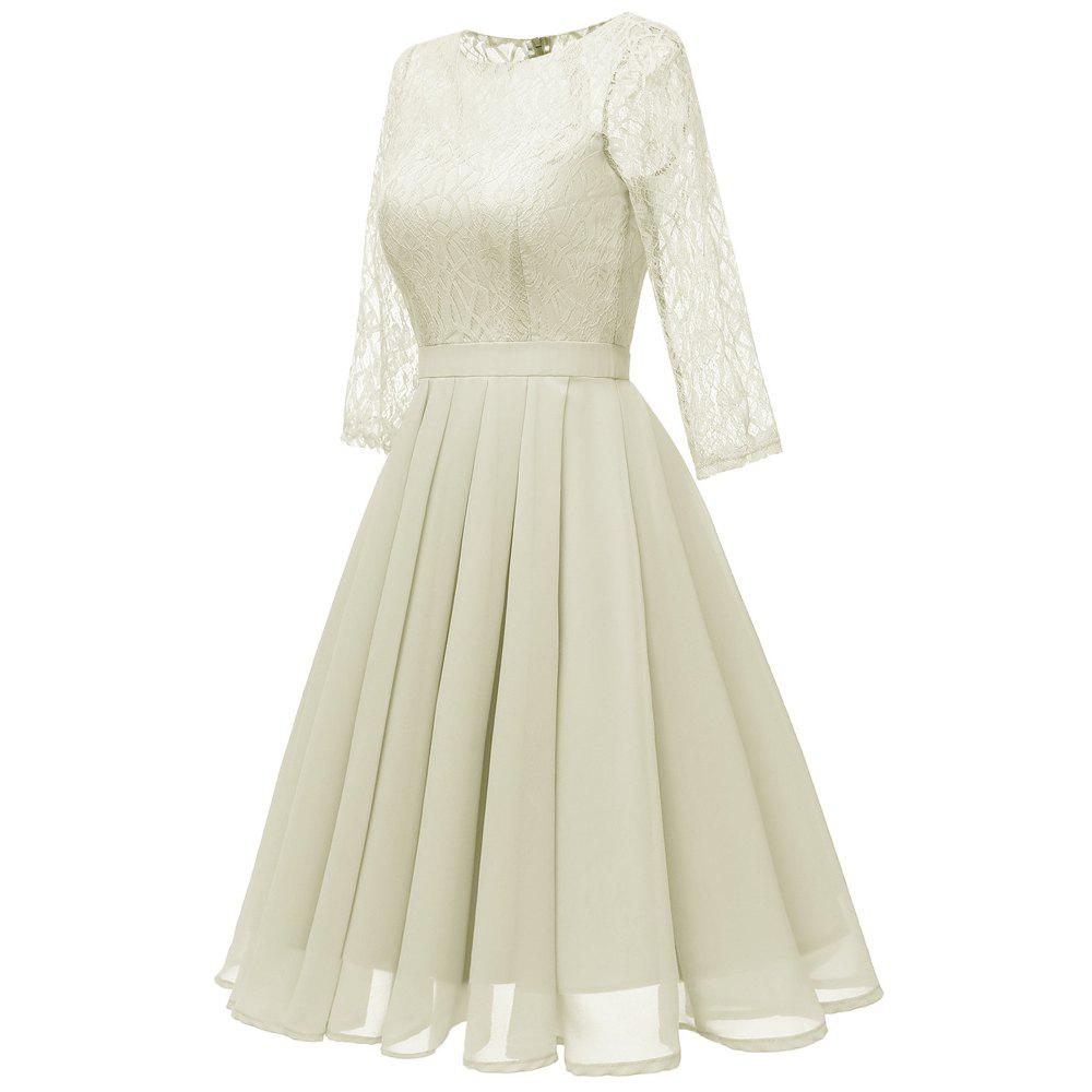 Fancy Seven Points Sleeves Lace Skirts