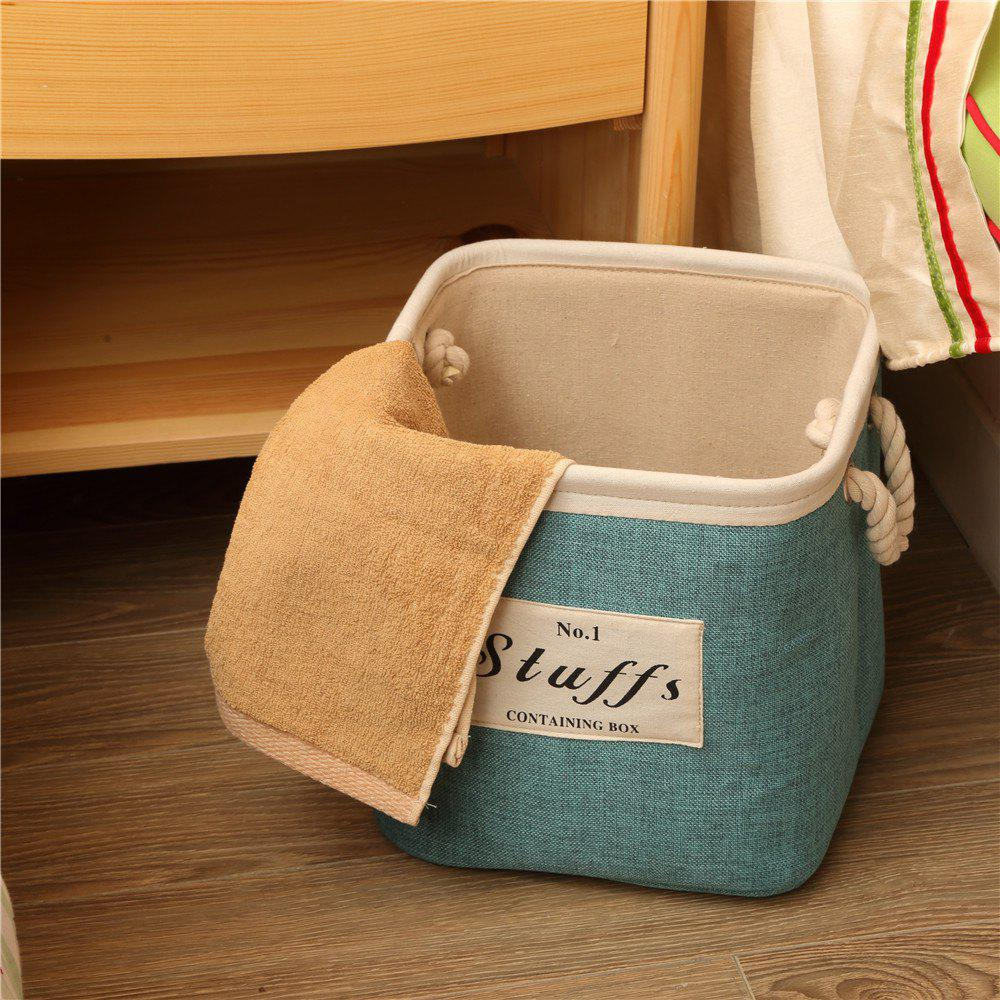 Chic Storage Bucket Brief Style Linen Creative Environmental Clothes Container