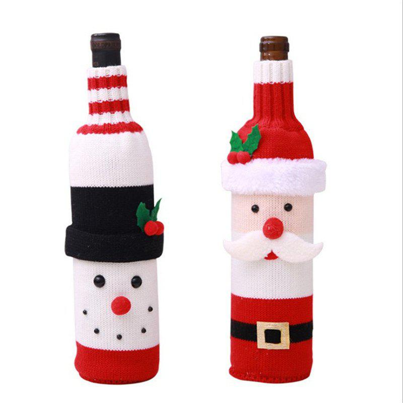 Christmas Decorations Elk Wine Bottle Cover Knitted Champagne Wine Bottle