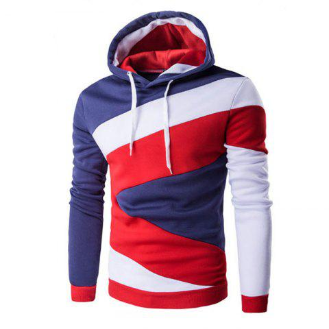Men's Casual Colorblock Hooded Sweater
