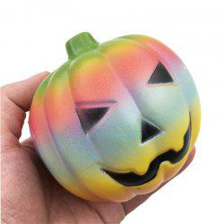 Jumbo Squishy Color Halloween Pumpkin Slow Rising Squeeze Toy -