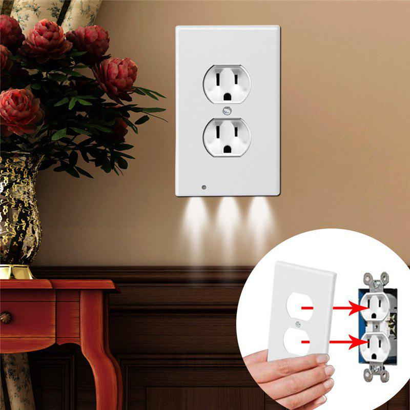 Shop LED Night Angel Wall Outlet Face Hallway Bedroom Bathroom Safty Light