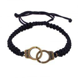 Fashion Personality Men's Handcuffs Pendant Woven Bracelet -