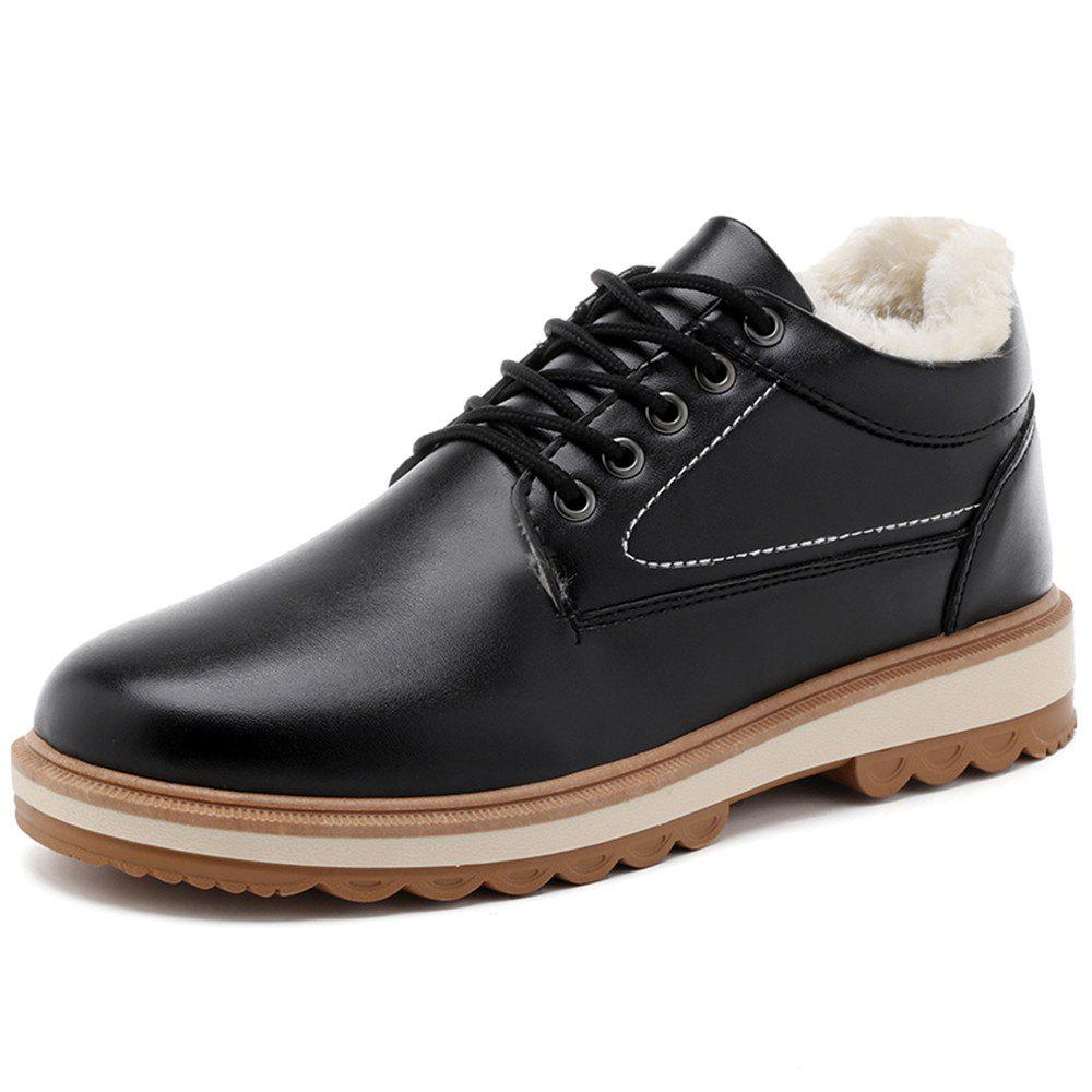 Trendy Men'S Warm and Casual Cotton Shoes