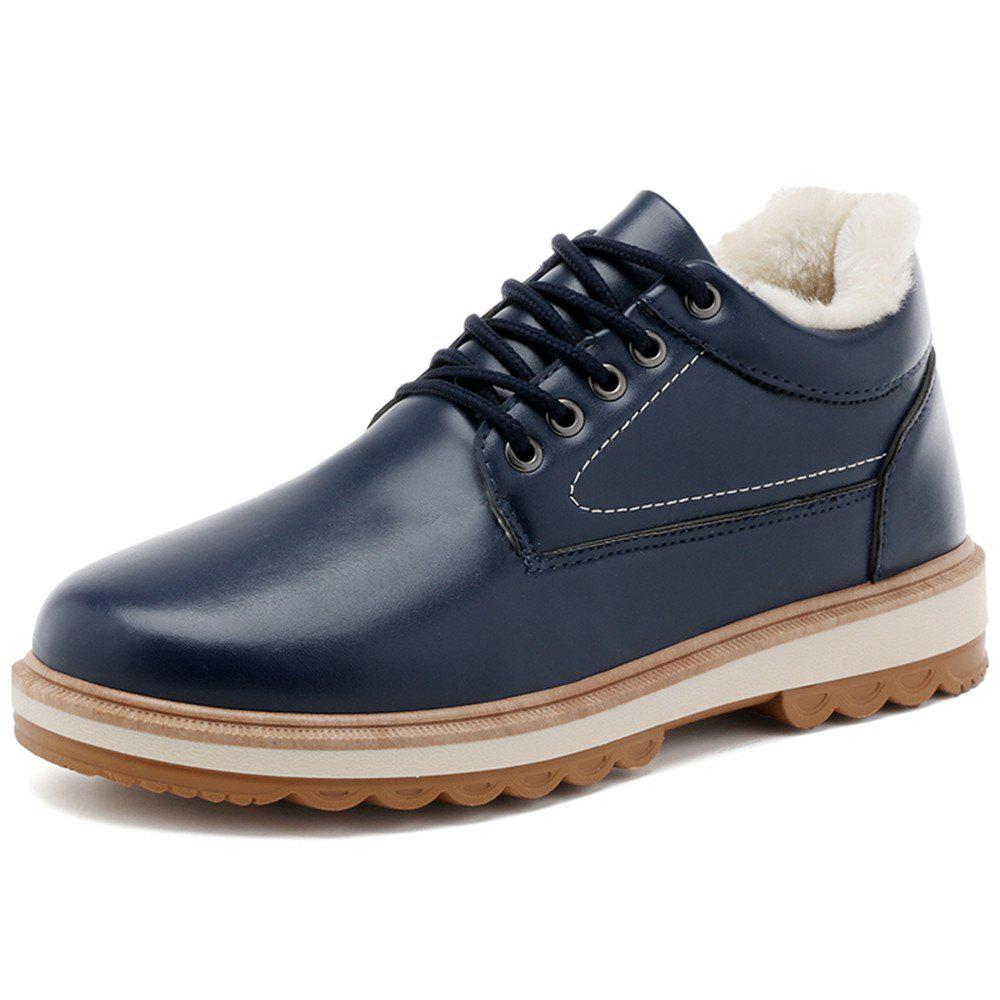 Chic Men'S Warm and Casual Cotton Shoes