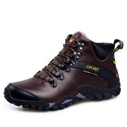 Men'S Warm Wear-Resistant Non-Slip Outdoor Sports Snow Boots Hiking Shoes -