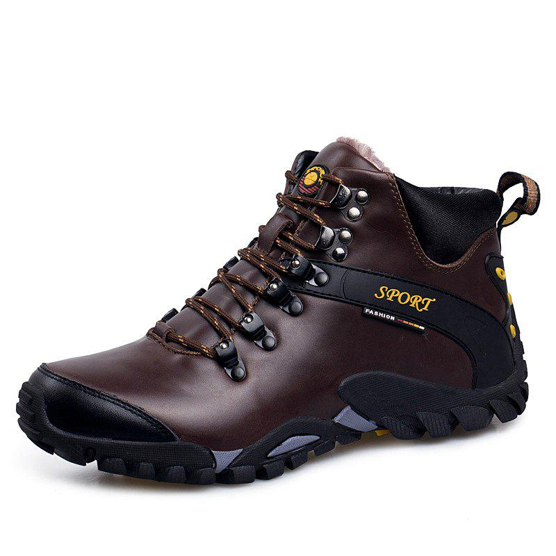 Shop Male Warm Wear-Resistant Non-Slip Outdoor Sports Boots Hiking Shoes