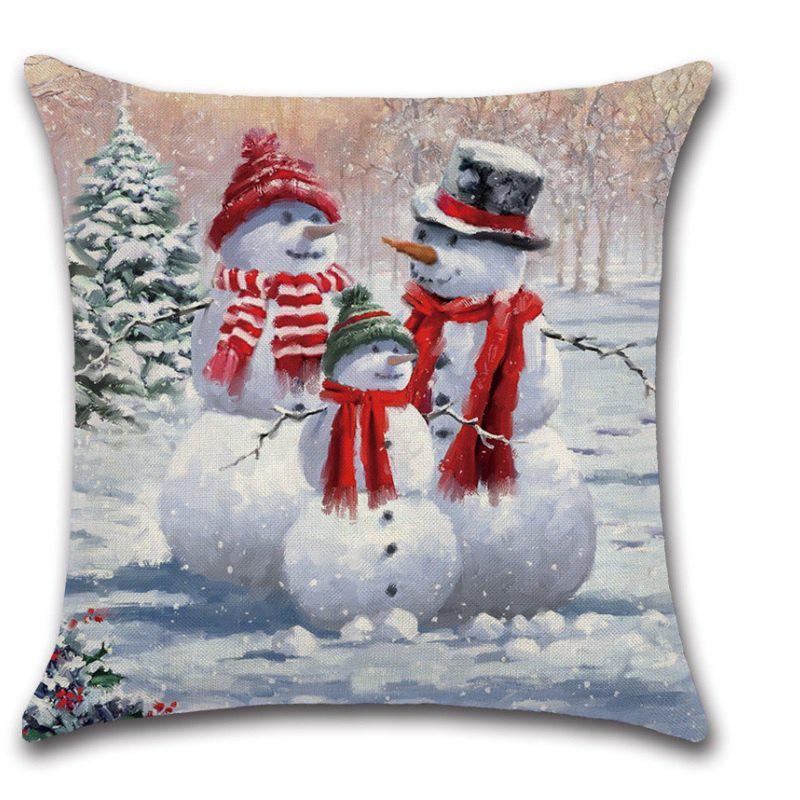 fashion merry christmas pillow cover sofa cushion cover pillowcase decorative pillows - Christmas Decorative Pillows