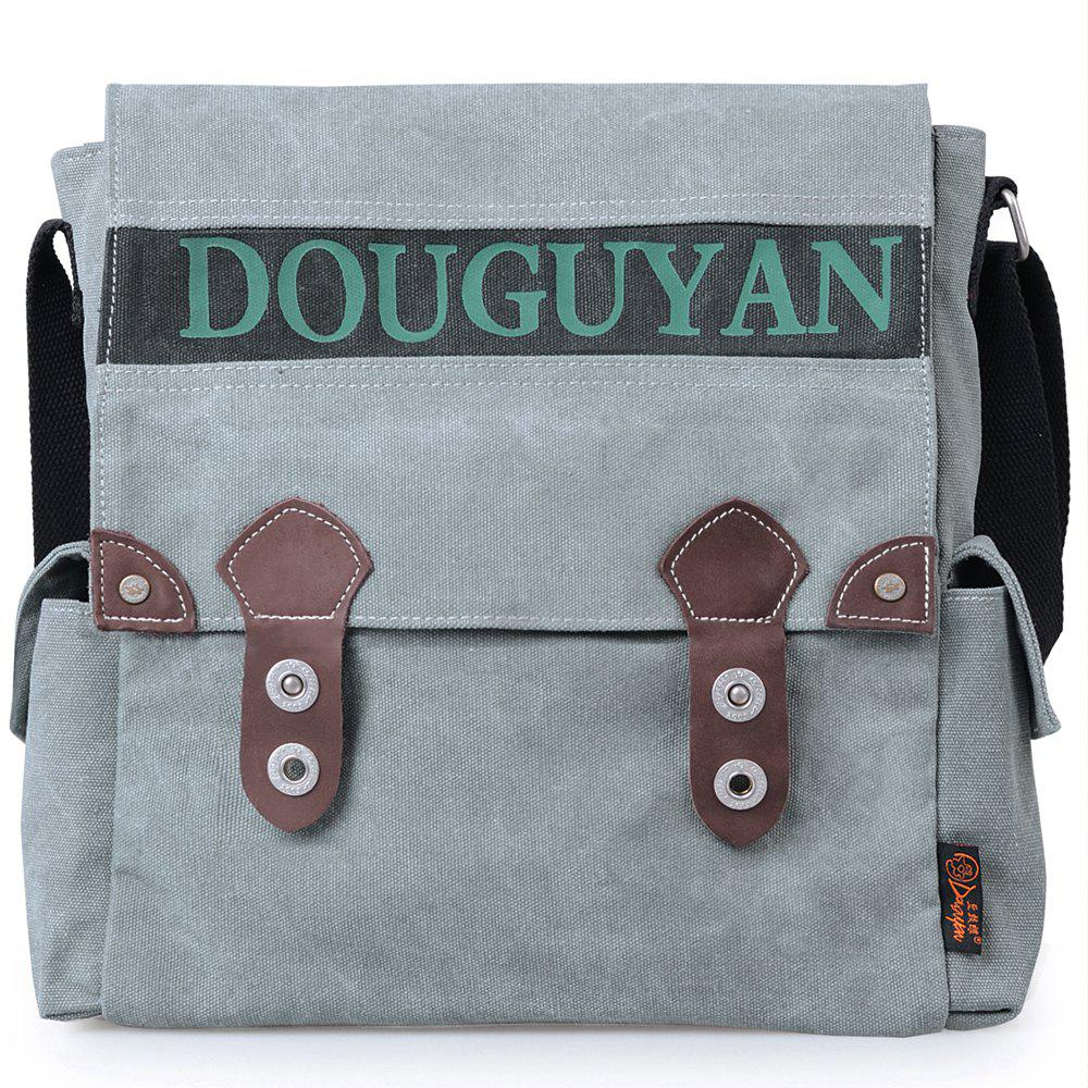 0f5ccbf64e3f Unique Douguyan Canvas Vertical Messenger Bag for Men Shoulder Satchel  Sling Bag G43609