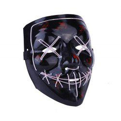 Light Up LED Mask Halloween Scary Mask Costume для мужчин -