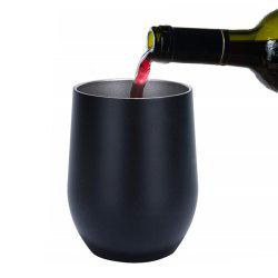 Double-Insulated Stemless Glass Wine Tumbler with Lid Stainless Steel Cup -