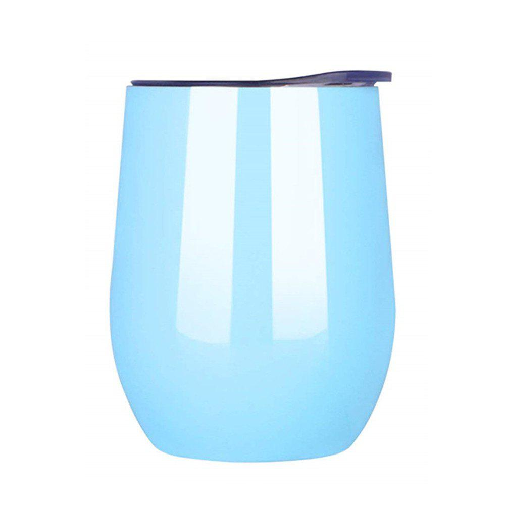 Latest Double-Insulated Stemless Glass Wine Tumbler with Lid Stainless Steel Cup