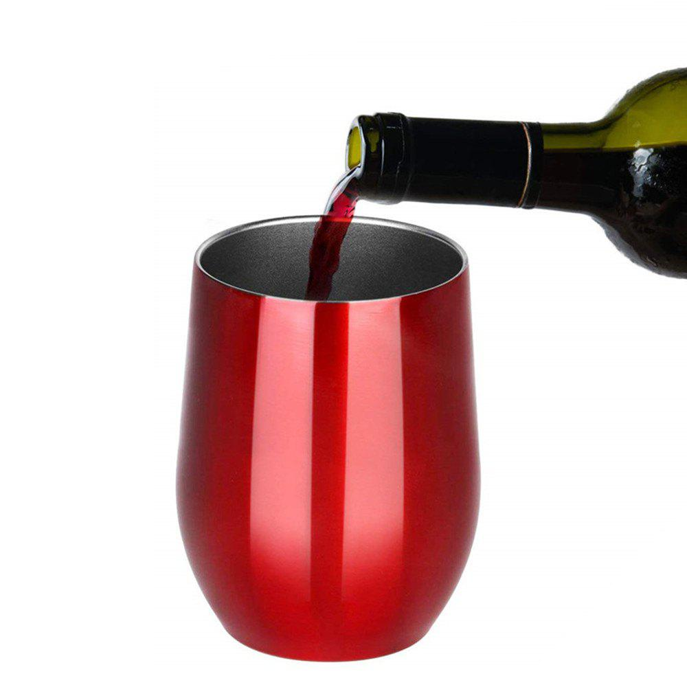 Best Double-Insulated Stemless Glass Wine Tumbler with Lid Stainless Steel Cup