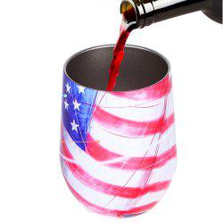 Double-Insulated Stemless Glass Stainless Steel Tumbler Wine Cup with Lids -