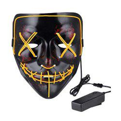 Mask LED Light up Purge Mask for Festival Cosplay Costume -