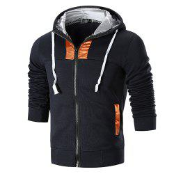 2018 Men's Hooded Stitching Jacket Sweater -