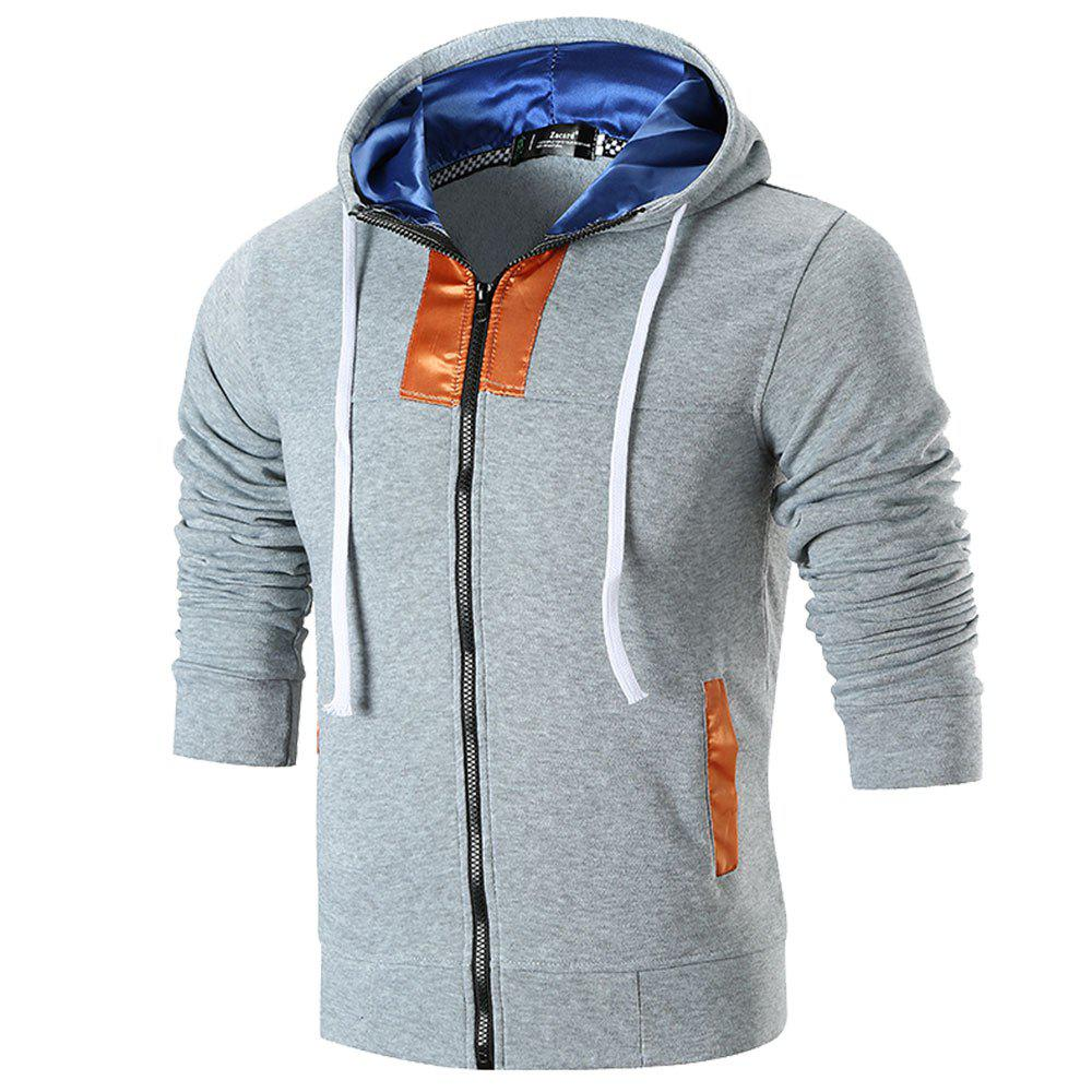 Shops 2018 Men's Hooded Stitching Jacket Sweater