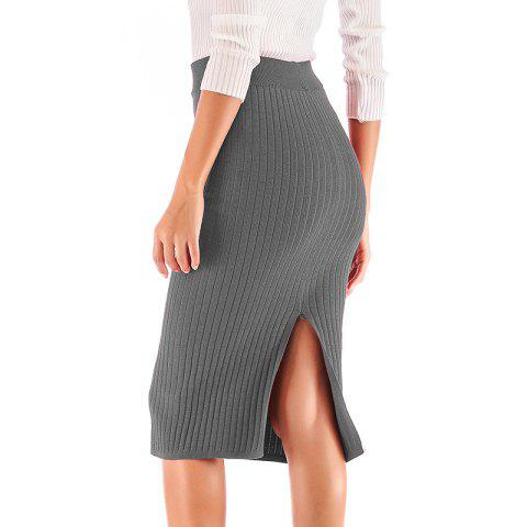 Autumn New Knit Skirt Hip Skirt Solid Color Knitted Skirt