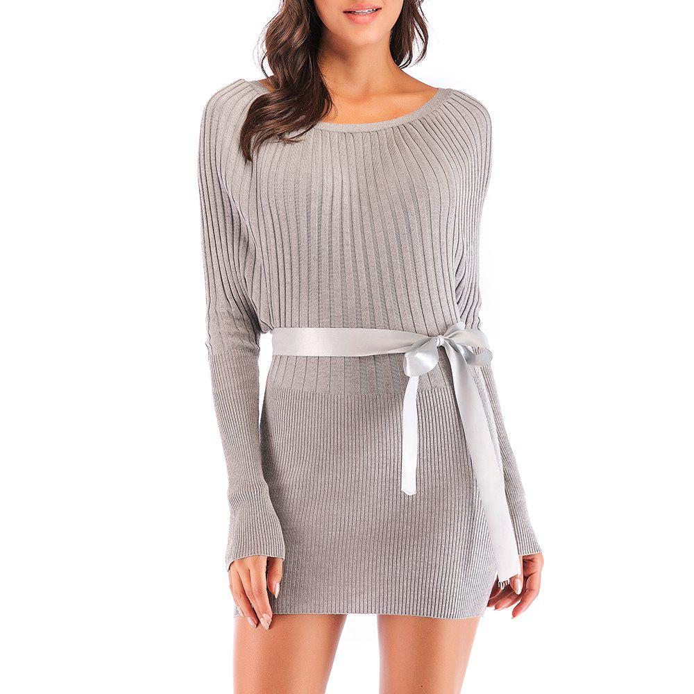 ee890c2a7c4 New Autumn and Winter Fashion Slimming Bag Hip Bat Shirt Knit Dress - One  Size