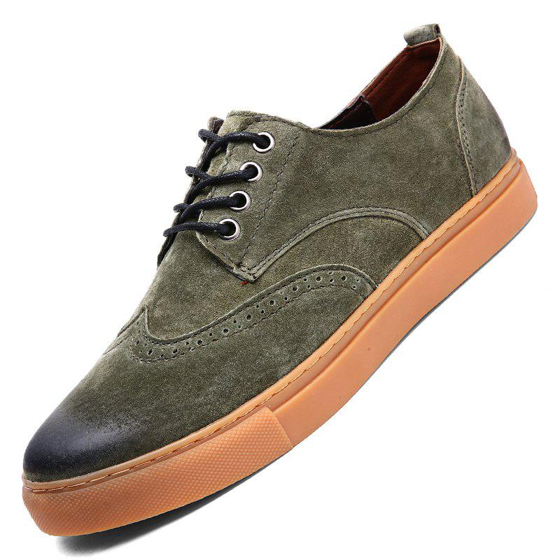 Outfit Four Seasons Casual Mens Suede Leather Shoes