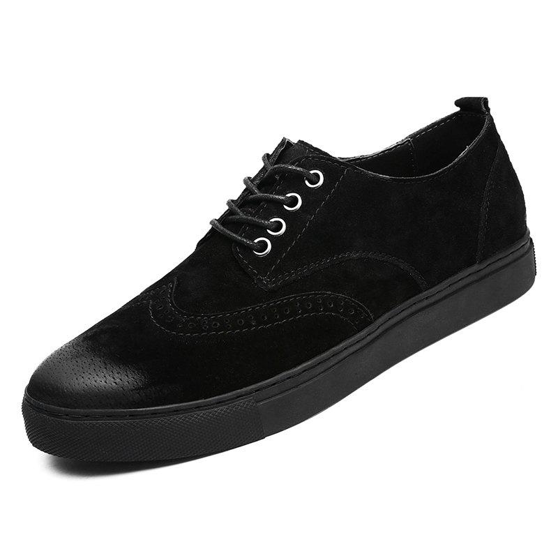 Trendy Four Seasons Casual Mens Suede Leather Shoes