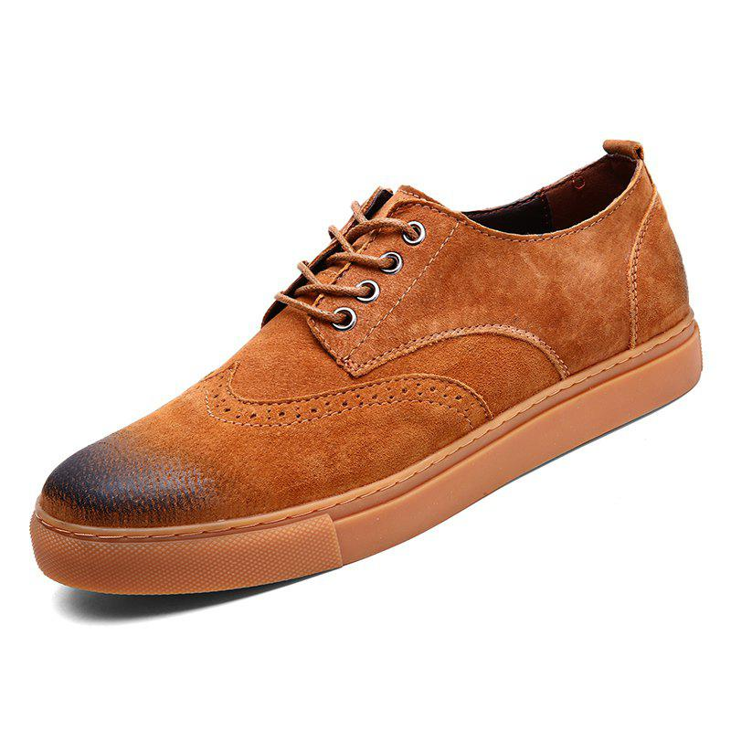 Discount Four Seasons Casual Mens Suede Leather Shoes