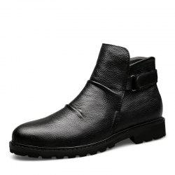 Men'S Leather Business Casual Booties -