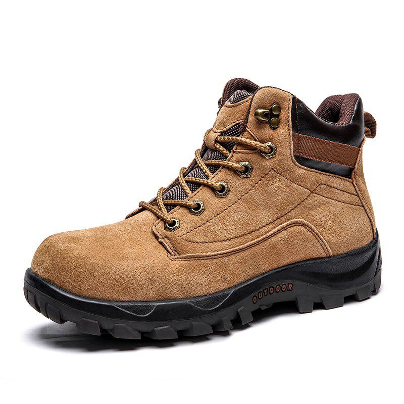 Buy Men'S Warm Wear-Resistant Anti-Skid Outdoor Tooling  Snow Boots