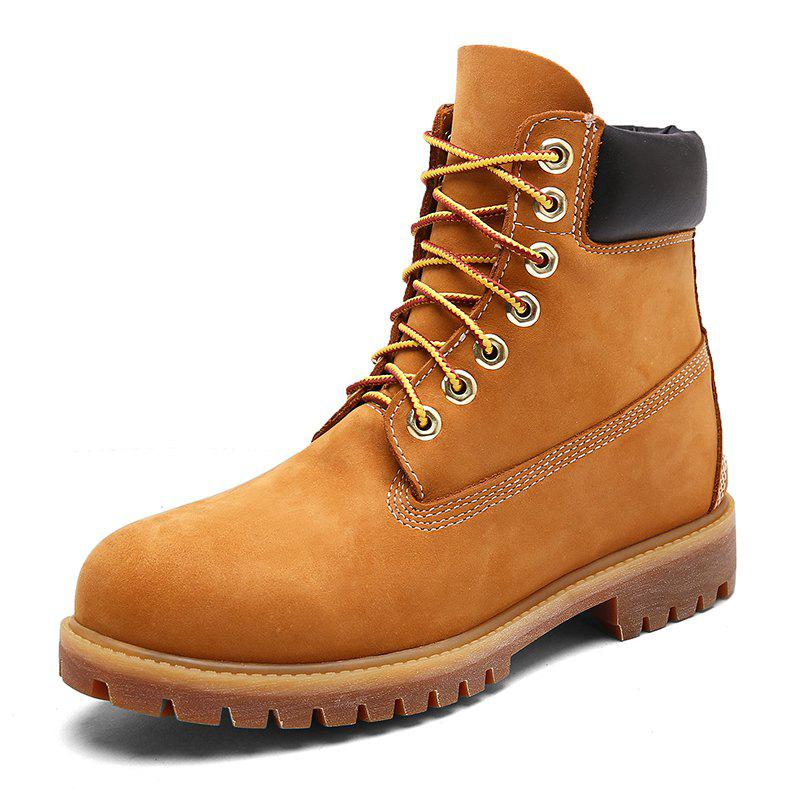 Discount Men'S Leather Outdoor Tooling Wear-Resistant Non-Slip  Boots