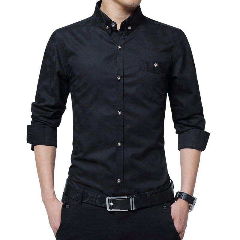 fa5f69b322a Fancy New Men S Long-Sleeved Shirts Plain Color Large Size Men S Tops Casual  Jacket