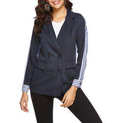 Double-Breasted Striped Blazer -