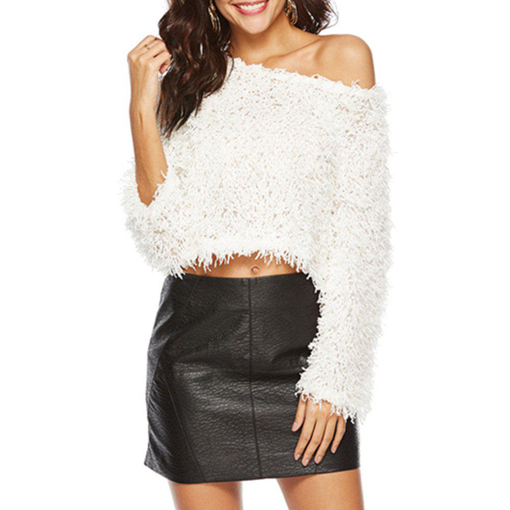 Fancy Long Sleeve Hooded Vest with Hairy Fringe