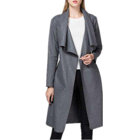 Cardigan with Lapel and Woolen Trench Coat