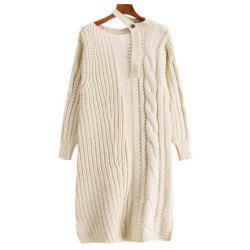 Women's Long Sleeve Loose Sweater Dress -